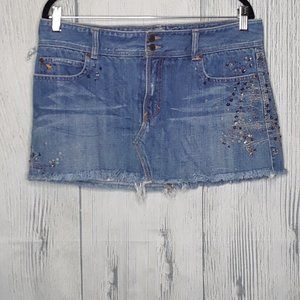 abercrombie and fitch jean skirt size 10
